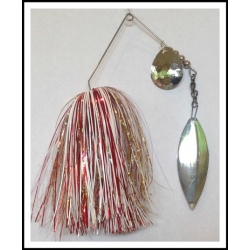Spinnerbait - Snow White 3/4 oz. .051 Wire Snow White, holo red, solid gold