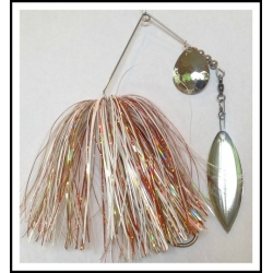 Spinnerbait - Snow White 3/4 oz. .051 Wire Snow White, holo orange, gold luster