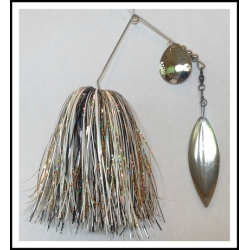 Spinnerbait - Snow White 3/4 oz. .051 Wire Snow White, holo black, holo gold