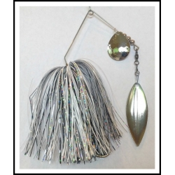 Spinnerbait - Snow White 3/4 oz. .051 Wire Snow white, holo black, holo silver
