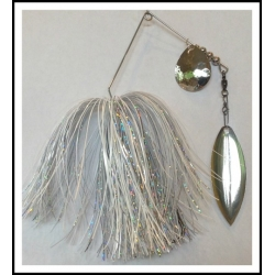 Spinnerbait - Snow White 3/4 oz. .051 Wire Snow White, holo silver