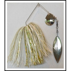 Spinnerbait - Snow White 3/4 oz. .051 Wire Snow white, holo yellow
