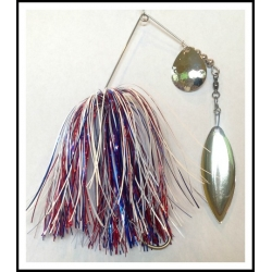 Spinnerbait - Snow White 3/4 oz. .051 Wire Snow White, holo red, solid blue