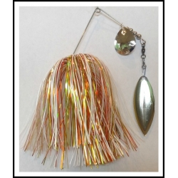Spinnerbait - Snow White 3/4 oz. .051 Wire Snow white, orange luster, yellow luster