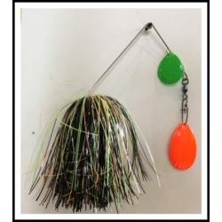 3/4 ounce Spinnerbait Glow in the Dark Glow Tiger