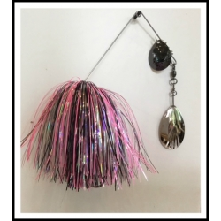 3/4 ounce Spinnerbait Glow in the Dark Pink Floyd