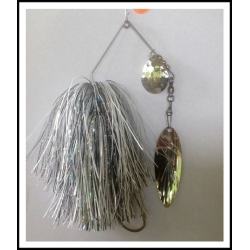 "Spinnerbait 1 oz .062"" Wire, Snow White, Holo Black & Holo Silver"