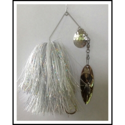 "Spinnerbait 1 oz .062"" Wire, Snow White & Holo Silver"