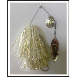 "Spinnerbait 1 oz .062"" Wire, Snow White & Holo Yellow"
