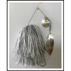 Spinnerbait 1 oz. .062 Wire Snow White & Holo Black