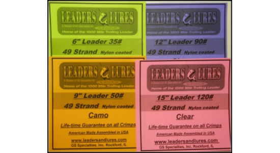 New for 2013: Nylon Coated 49 Strand Leaders in 4 Weights &amp; 4 Lenghts