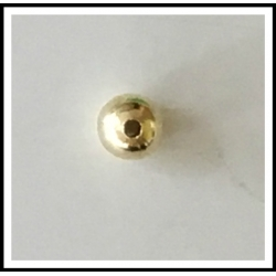 "Hollow Beads 5/16"" Brass"