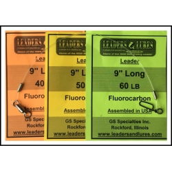 40 lb, 50 lb, 60 lb Fluorocarbon  12 Pack Leaders