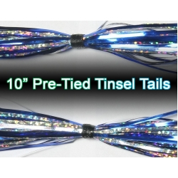 10 inch Pre-Tied Tinsel Skirts